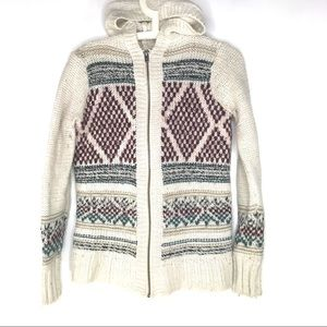 Hollister Zip Front Sweater Jacket